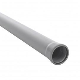 TEAVA PVC-110- L-4000 CU MUFA SI GARNITURA PT CANALIZARE GRI,
