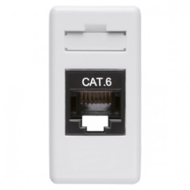 Priză de date Gewiss System RJ 45 pentru cablu UTP, 1 modul, albă, GW20271